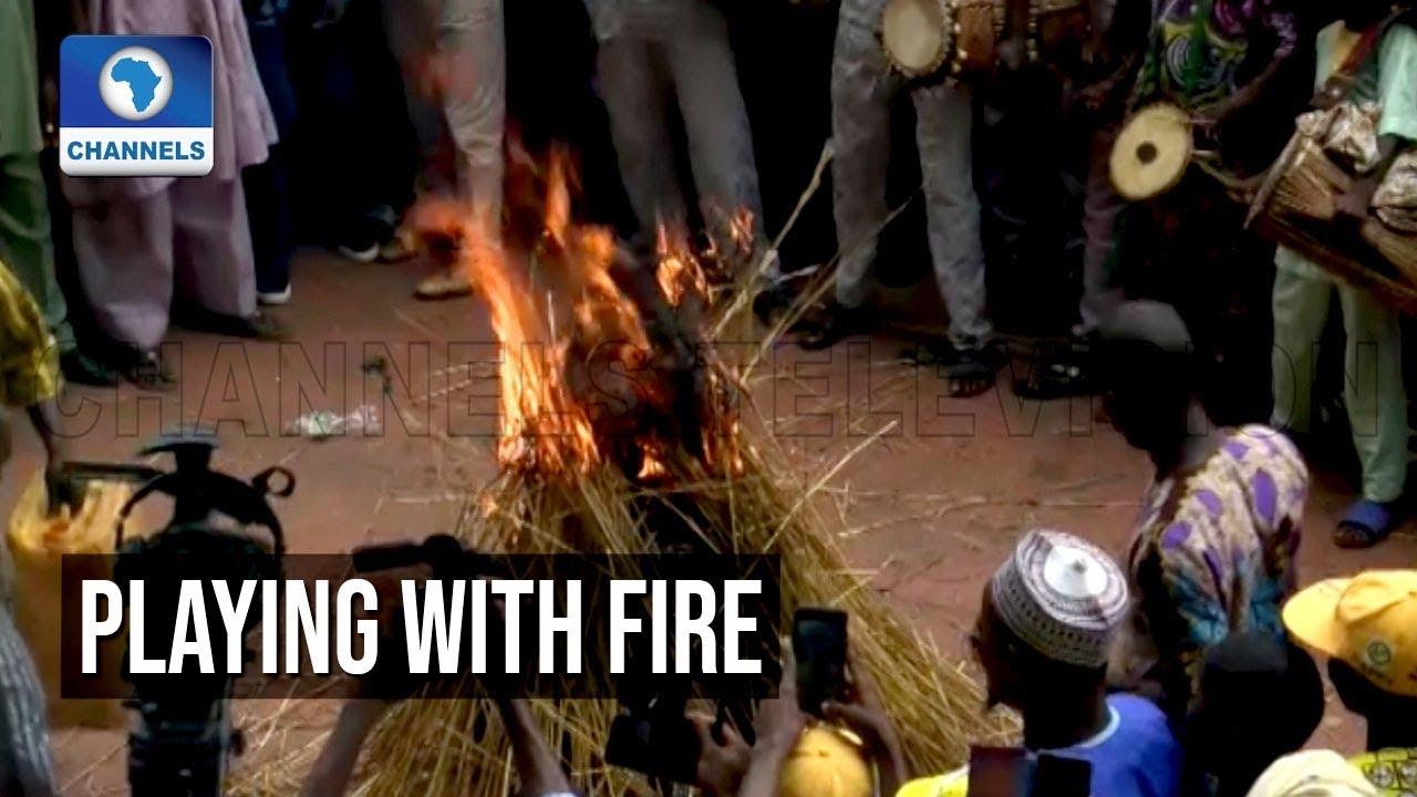 Download Video: Masquerade Defies Flames At Ojude Oba Festival