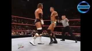 Triple H vs Randy Orton Unforgiven 2003 Highlights