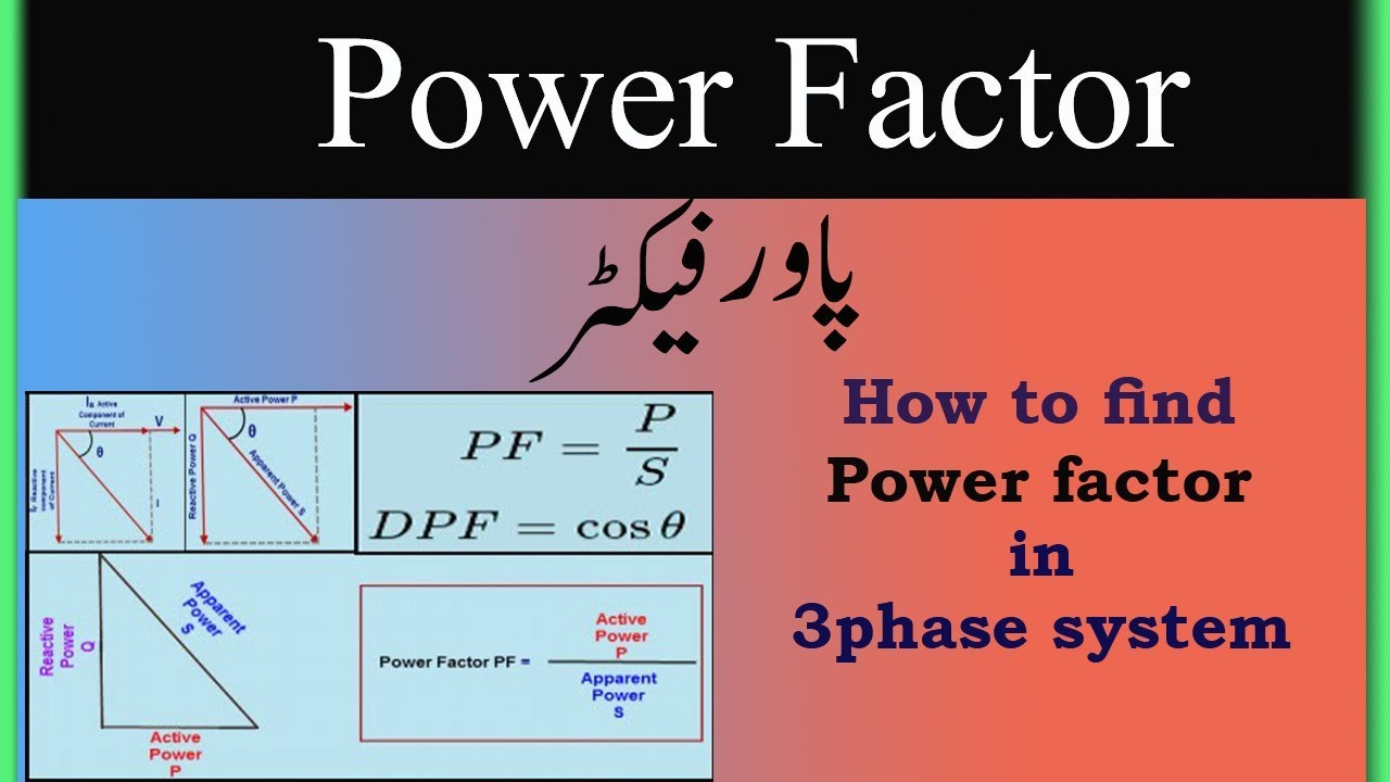 ''Power factor calculation'' how to calculate power factor in 3phase system