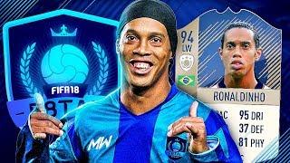 F8TAL! PRIME RONALDINHO SCORES SOOO MANY GOALS!! - FIFA 18 ULTIMATE TEAM #1
