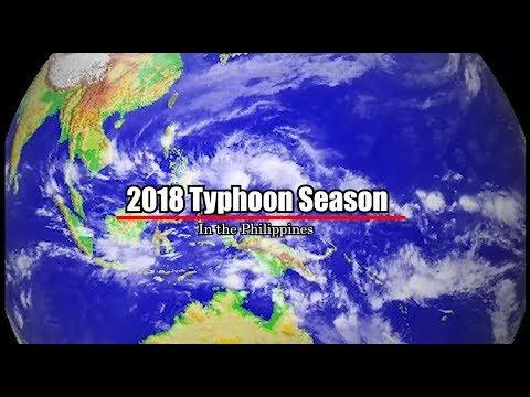 2018 Typhoon Season in the Philippines (Animation)