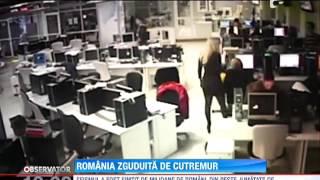 Cel mai puternic cutremur din Romania, din ultimii 4 ani, a scos oamenii in strada