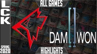 GRF vs DWG Highlights ALL GAMES | LCK Spring 2020 W3D2 | Griffin vs Damwon Gaming