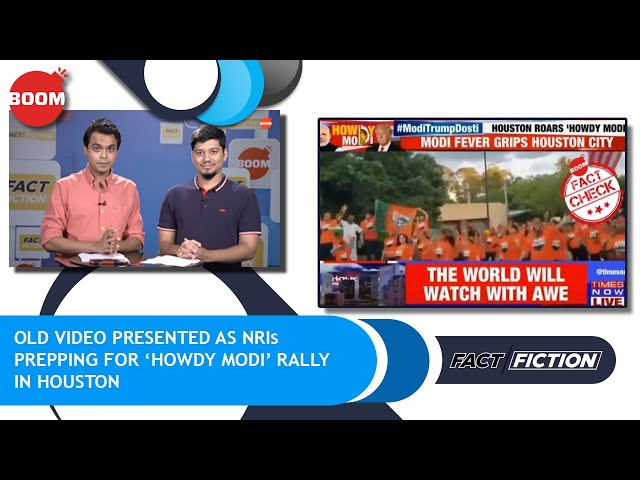 Old Video Presented As NRIs Prepping For 'Howdy Modi' Rally In Houston