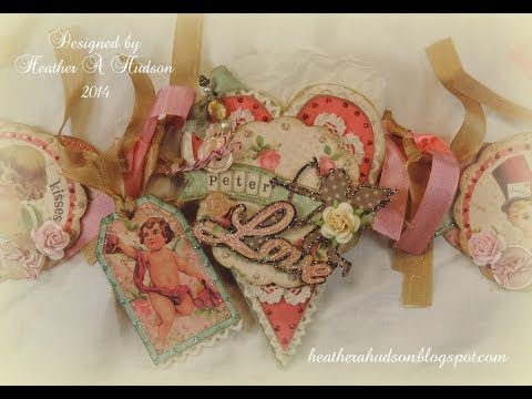 Vintage Victorian Diy Romantic Valentine Paper Scrapbooking Banner Youtube