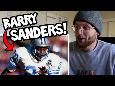 Rugby Player REACTION to BARRY SANDERS Career Highlights NFL YouTube Video!