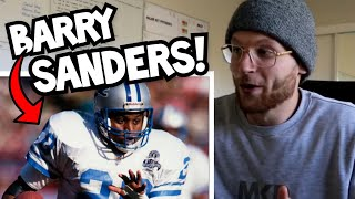 Rugby Player Reacts to BARRY SANDERS NFL Career Highlights YouTube Video!