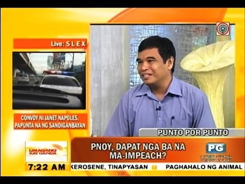 My views on impeachment and DAP (ABS CBN, July 8, 2014)
