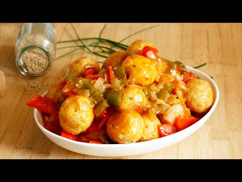 boulettes-de-poulet-sauce-aigre-douce-