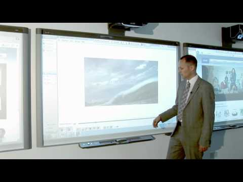 Write over video content on a SMART Board interactive whiteboard