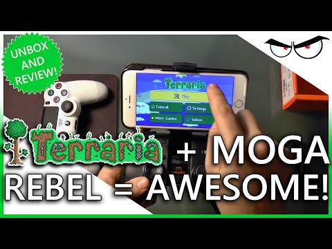 MOGA Rebel Unboxing & Review: Terraria On IPhone 6 Plus! (60FPS | 1080p!)