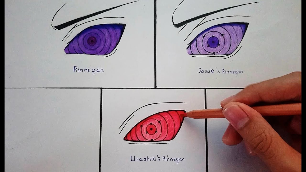 Drawing Rinnegan || Naruto - Boruto - YouTube