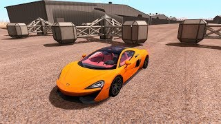 Giant Spinner vs Supercars - BeamNG DRIVE High Speed Crashes