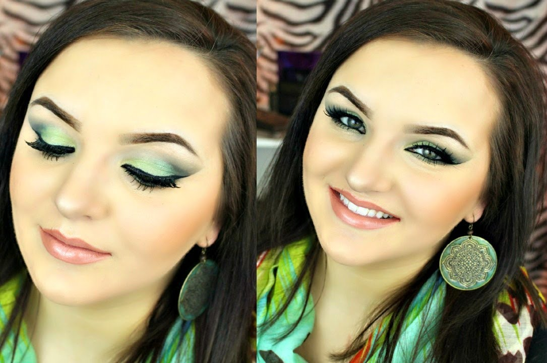 Green Eyes Younique Pigment Tutorial Youtube