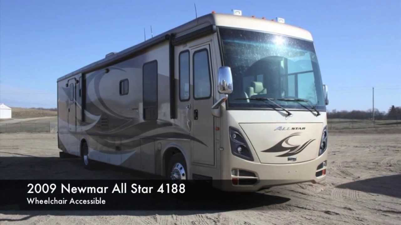 Used 2009 Newmar All Star Diesel Wheelchair Accessible Motorhome