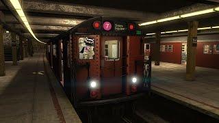 World Of Subways 4: NYC/MTA Subway 7 Train Red Bird Round Trip Cab Ride (Local & Express)