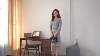 [세여자몰]진주타임여성자켓 V넥벨티드정장원피스