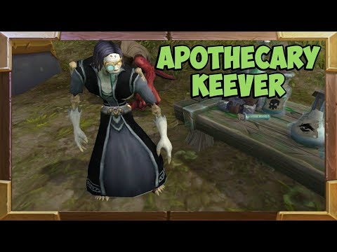 Where to find Apothecary Keever NPC at the Broken Shore Worl