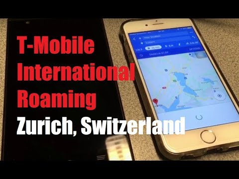 T-Mobile International Roaming in Zurich, Switzerland! (Problems, Web, Navigation)