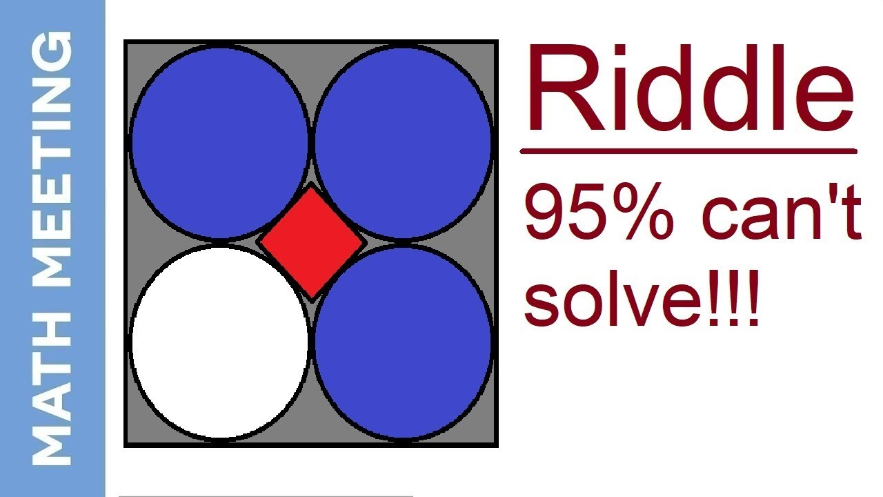 Math Riddle Fun Geometry Problem 95 Can T Solve Youtube