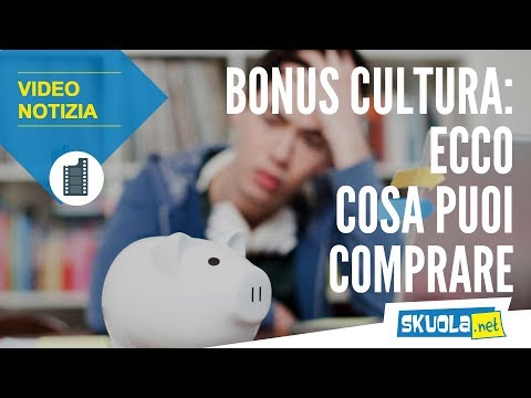 Bonus cultura: ecco cosa poter comprare