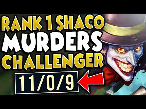 #1 SHACO WORLD SMURFING IN CHALLENGER (ACTUAL 1V5 STOMP) - ChaseShaco - League Of Legends
