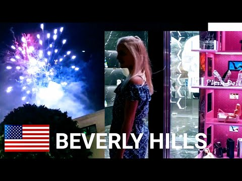 Sudden Fireworks In Beverly Hills. Let's investigate!  Dash Cam Tours