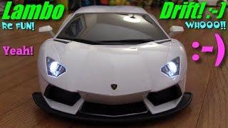 RC Car Drift! Drifting a Lamborghini Aventador Remote Control Toy Car + More Toys!!