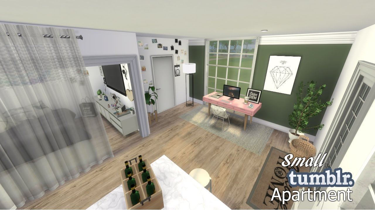 The Sims 4 Apartment Build Small Tumblr