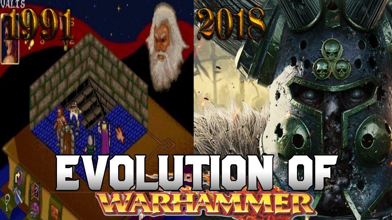 Graphical Evolution of Warhammer Fantasy (1991-2018)