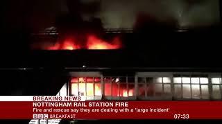 Nottingham station fire: East Midlands Trains cancelled as crews tackle major blaze