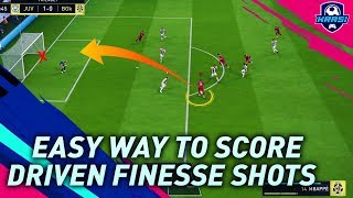 FIFA 19 DRIVEN FINESSE SHOT - REVEALING A NEW SECRET SHOOTING TECHNIQUE NEVER SHARED BEFORE!