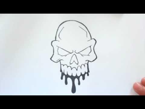 تعليم الرسم كيفية رسم جمجمة مخيفة رسومات بالرصاص تعليم الرسم