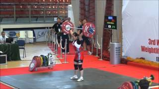 2012 3rd World University Weightlifting Championship 女子 58kg級 安...