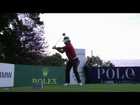 Bernhard Langer - slow motion golf swing - driver