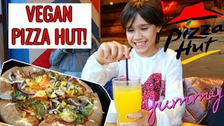 VEGAN KIDS ENJOY PIZZA HUT!👅 #42 VLOG