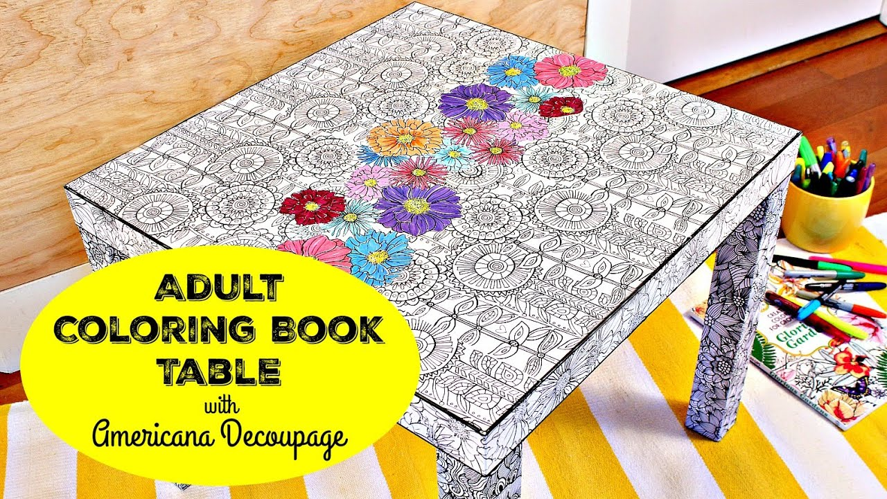 HOW TO: Coloring Book Table DIY - YouTube