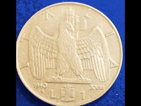 1940 Italy 1 Lira Coin - Vittorio Emanuele III
