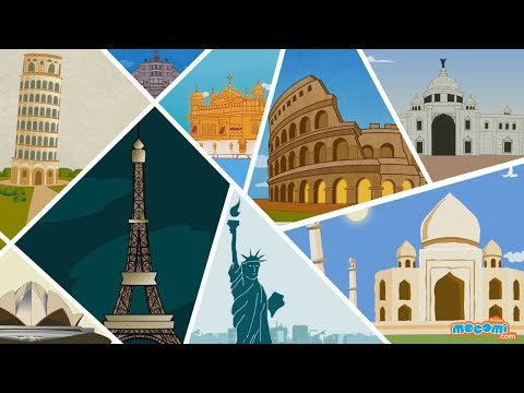 15 Famous Monuments Around The World - Fun Facts Video | Kid