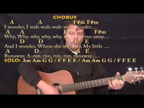 Runaway (Del Shannon) Strum Guitar Cover Lesson in Am with Chords/Lyric