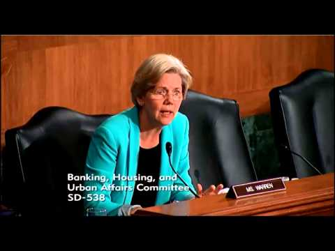 Sen Elizabeth Warren Questions Ben Bernanke in His Last Appearance Before Senate Banking Committee