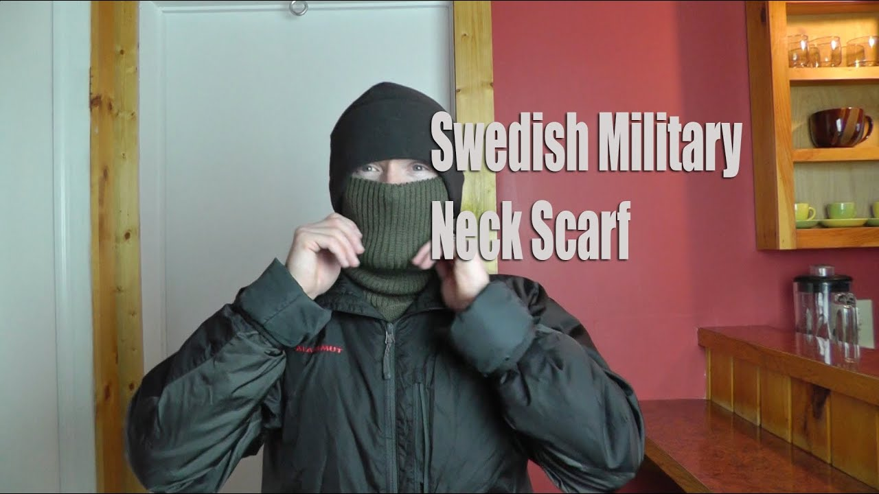 adf446412fdf6 Swedish Military Neck Scarf - Military Surplus Preview - YouTube