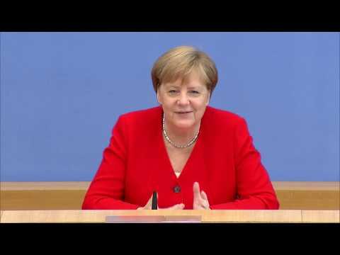 Merkel zu Gesundheit, Greta, Trump & Spahn in der Sommer-PK
