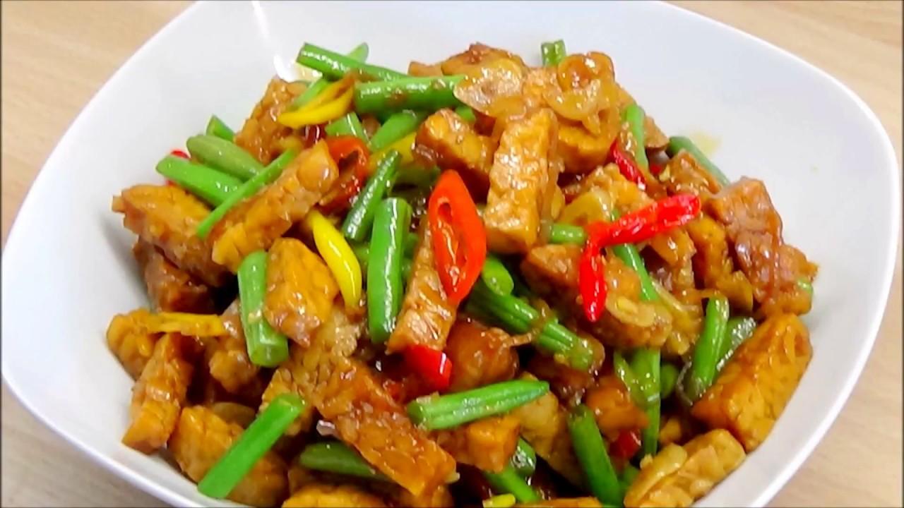 Tumis Tempe Buncis How To Make Tempeh Green Bean Stir Fry Youtube