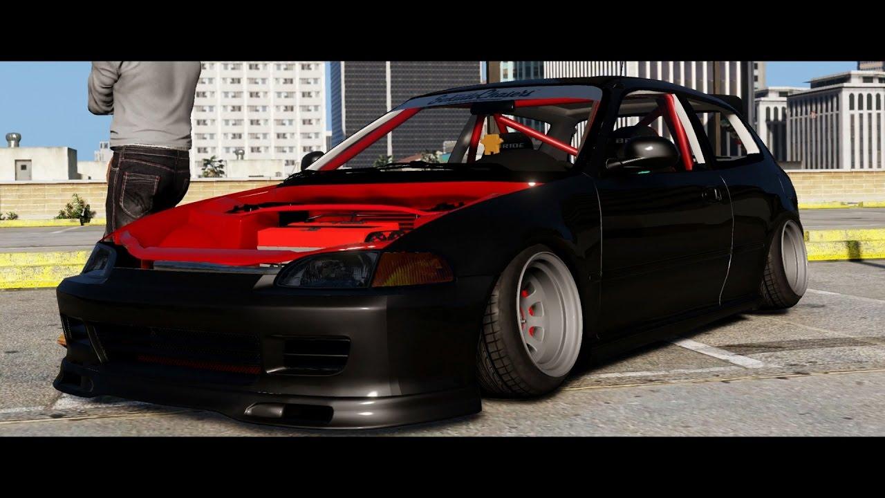 Honda civic hatchback eg stance youtube for Honda eg hatchback