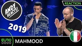 ITALY EUROVISION 2019 REACTION: Mahmood - 'Soldi' (Sanremo 2019 winner) | ANDY REACTS!