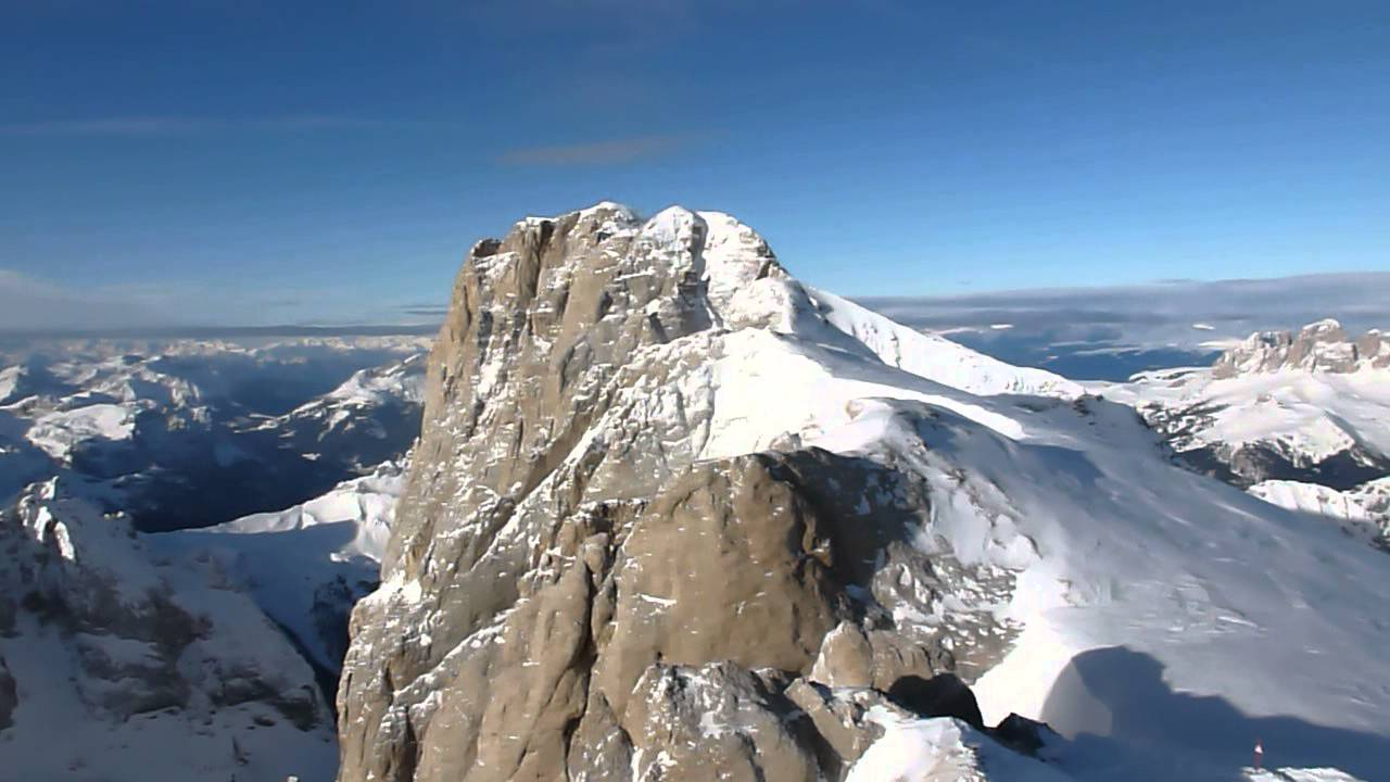 Terrazza sulle dolomiti - MARMOLADA 3250 M. 03-01-2013 - YouTube