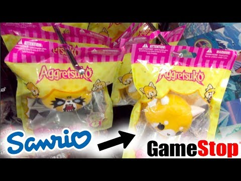 LICENSED SANRIO SQUISHIES AT GAMESTOP! SO MANY SQUISHIES!