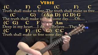 We Shall Overcome (HYMN) Guitar Cover Lesson in C with Chords/Lyrics