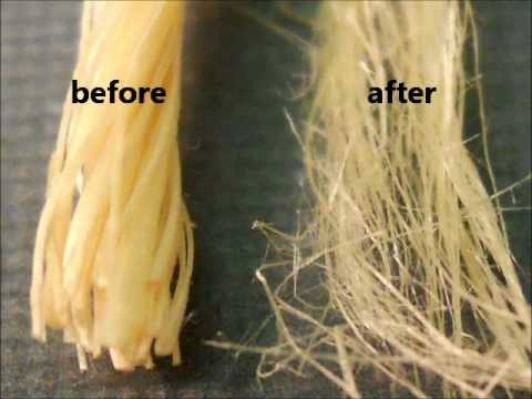 Natural fibers (sisal) refining by advanced oxidation with catalytic decomposition of  H2O2